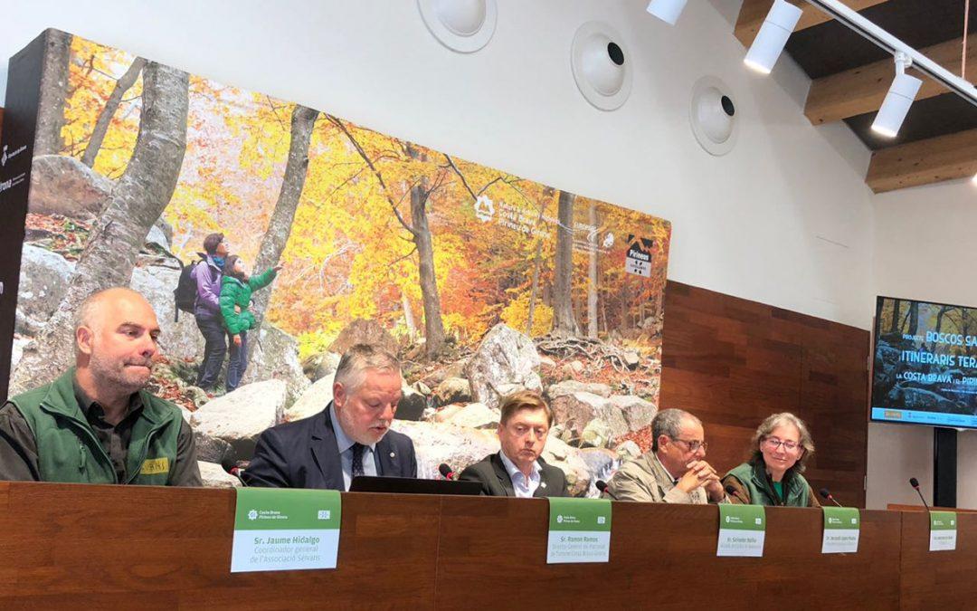 Presentación en público de nuestro proyecto de Bosques Saludables e Itinerarios Terapéuticos en la provincia de Girona