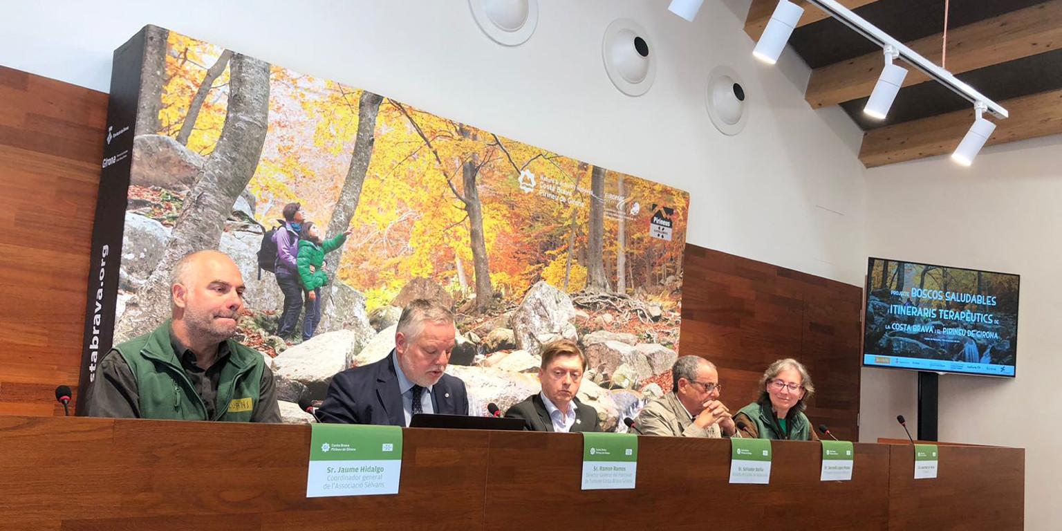 Presentació en públic del nostre projecte dels Boscos Saludables i Itineraris Terapèutics a la província de Girona