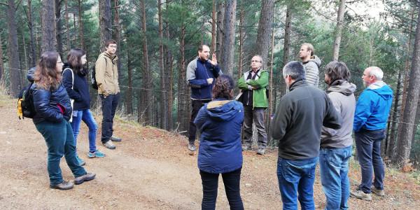 Ens reunim en el marc del Grupo de Custòdia Forestal de la XCT