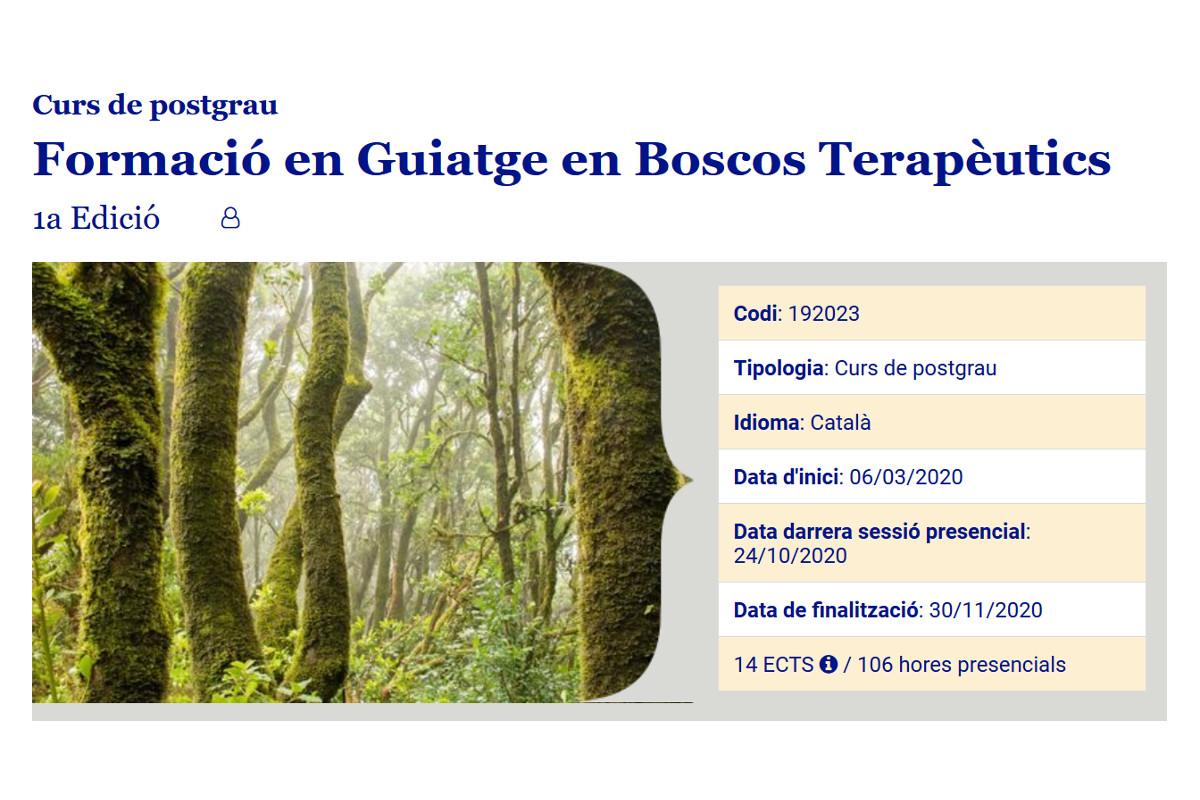Ha finalizado el periodo de matriculación para la 1a edición del CURSO DE POSTGRADO Sèlvans